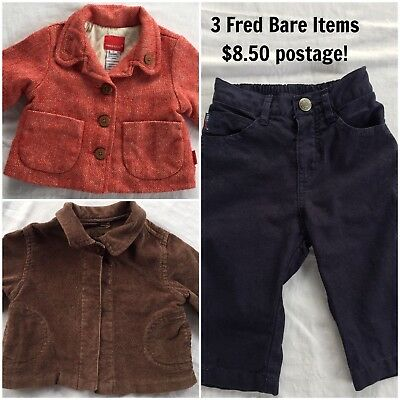 Fred Bare - Red Tweed Style & Chocolate Brown Jackets Linen Blend Pants All Sz 0