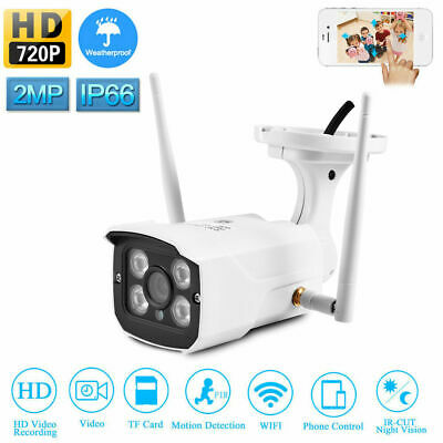 Wireless WIFI IP Camera HD 720P 1MP Outdoor Security Waterproof IR Night Vision