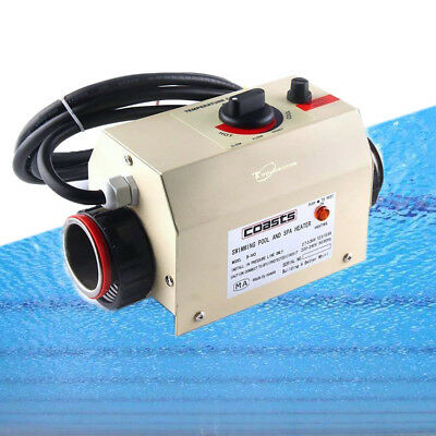 3KW 220V Swimming Pool&SPA Bath Hot Tub Electric Water Heater Heating Thermostat