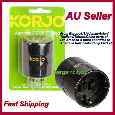 US EU USA JAPAN ASIA World to AU AUS Australia Power Plug Adapter Charger KORJO
