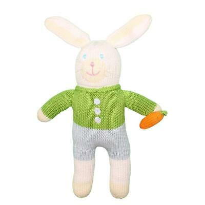 Zubels 100% Hand-Knit London Colin the Bunny Plush Doll Toy, 12-Inch, Fibers,