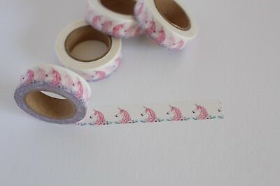 Unicorn washi tape, Unicorn theme, Kawaii, Cute Washi Tape, Planner accessories
