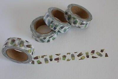 Cactus washi tape, Succulents washi tape, Cute Washi Tape, Planner accessories