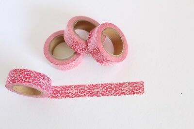 Pink Damask washi tape, Pink washi tape, Cute Washi Tape, Planner accessories