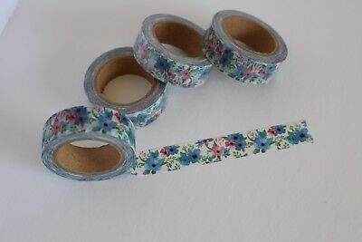 Floral washi tape, Blue floral washi tape, Cute Washi Tape, Planner accessories