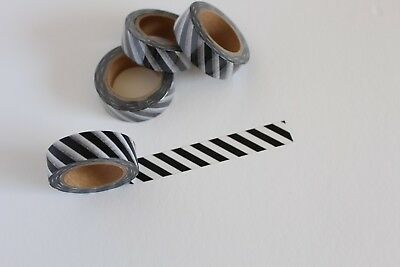 Black and white washi tape, Black stripes, Cute Washi Tape,Planner accessories