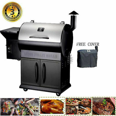 Z GRILLS Wood Pellet Grill and Smoker Style Camp Chef Meat Pro w/Digital Control