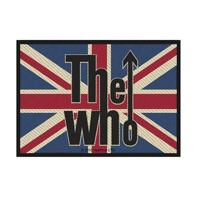 Official Licensed - The Who - Union Flag Logo Sew-On Patch Daltrey Rock Mod