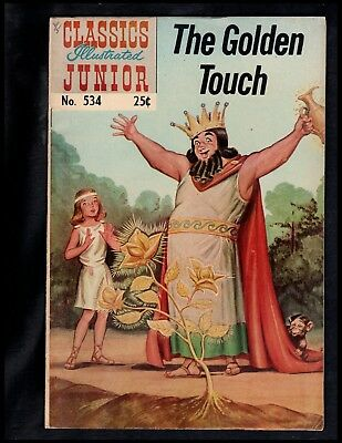 Classics Illustrated Junior #534 Vg+ Hrn576 (Golden Touch) Free Shipping On $15+