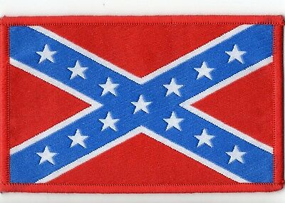 Confederate Flag Woven Patch