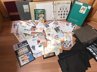 Estate Australia Bulk Collection Stamps First Day Covers Albums Stock Sheets
