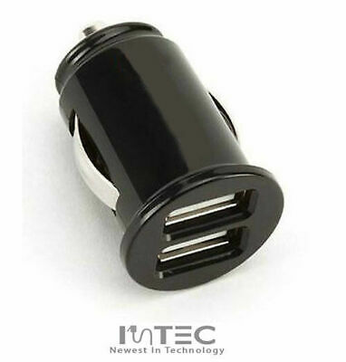 Small Dual Twin 2 Port Usb 12v Universal Car Socket Lighter Charger Adapter
