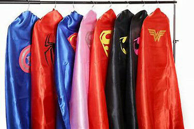 Superhero Cape & Mask Set Costume Fancy Dress Stag Hen Party ***ADULTS***