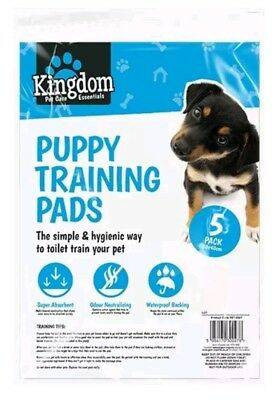 5 pack Ultra Absorbent Pet Dog PUPPY TRAINING PADS Doggy Poop Bag Toilet CD
