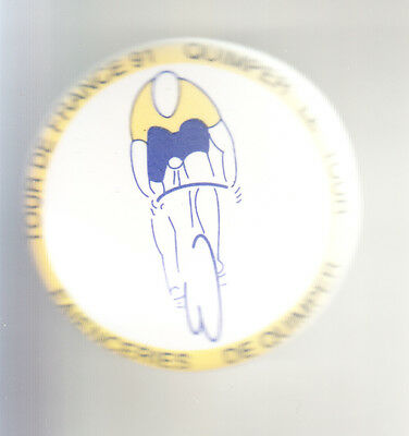 Rare Big Pins Pin's .. Velo Cyclisme Cycling Tour De France Faience Quimper ~By