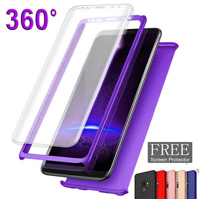 Shockproof 360 Case for Samsung Galaxy A6 A8 S9Plus/J4 J6 Hybrid Cover+Film Skin