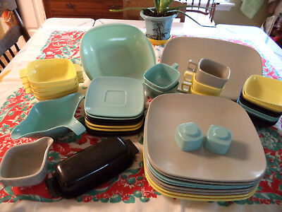 Vntg 40-piece Set ARROWHEAD Brook Park Harmony House EVER WARE Dishes Melamine