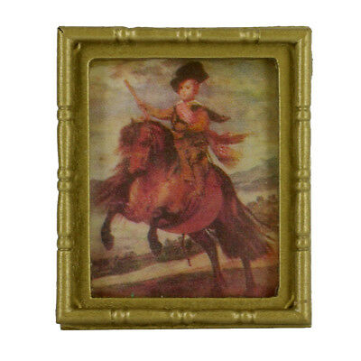Frame Knight Mural Painting Picture Dollhouse Miniature 1:12th Wall Hanging