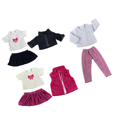 3set Doll Clothes for 18'' American Girl Doll Princess Costumes Jeans Skirt