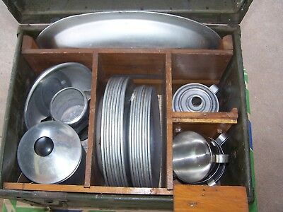 Vintage US Military Officers Mess Kit Army Marine Kitchen