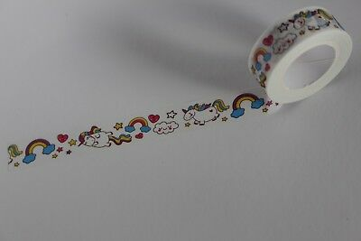 Unicorn print washi tape, Kawaii washi tape, Rainbow Washi, Planner accessories