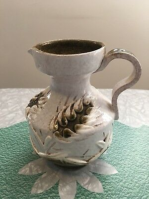Vintage Hand Made Made in Italy Ceramic Water Wine Pitcher Jug
