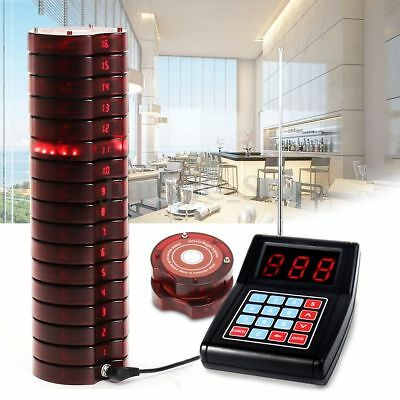 AU 10 Restaurant Coaster Pager Guest Call Wireless Paging Queuing Calling System