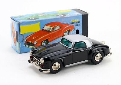 SCHUCO NUTZ Micro Racer 1044 Mercedes 190 SL Ovp Vintage wind up Toy Car Boxed