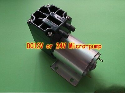 DC12V/24V 5L/min Micro vacuum suction aspiration Pump diaphragm pressure pump