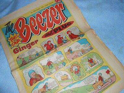 Vintage CLASSIC UK COMIC - THE BEEZER - 6th October 1979