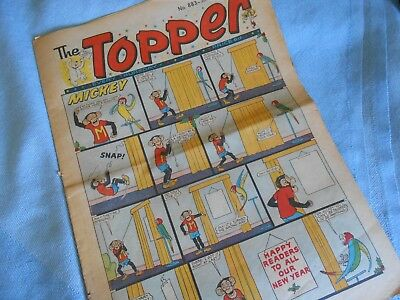 Vintage CLASSIC UK COMIC - TOPPER - 3rd January 1970