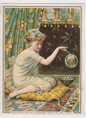 victorian new year card by de la rue bubbles c 1875