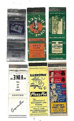 6 Berkley, Michigan  Matchcovers