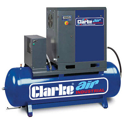 Clarke CXR5RD 5.5HP Industrial Screw Compressor with Air Receiver & Dryer