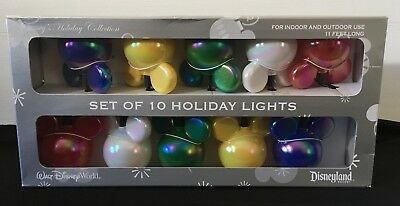Disney Parks Set Of 10 Multi Colors Mickey Christmas Holiday Lights