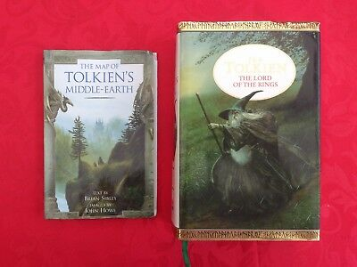 The Lord of the Rings.JRR Tolkien.Hardback.1991 and Middle Earth Map:FREE POST