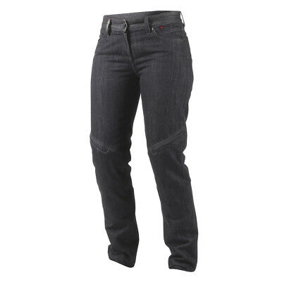 Dainese Queensville Wonems Ladies Jeans/pants Black Denim Aramid Sz 34
