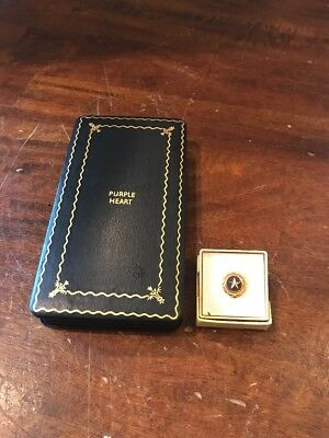 WWII  Purple Heart Medal Presentation Storage Case Box & Killed In Action Pin