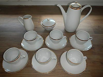 Bohemia Coffee set 15 pts. Vintage Czecho-Slovakia. Kaffee Garnitur