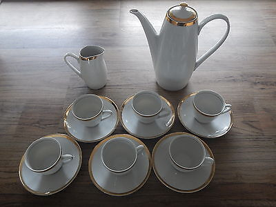 Bohemia Coffee set 14 pts. Vintage Czecho-Slovakia. Kaffee Garnitur