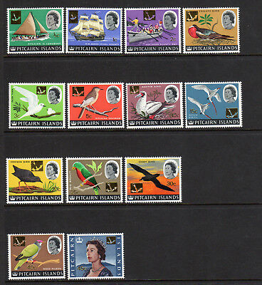 1967 Pitcairn Islands SC 72-84 QEII, Birds and Ships - Set of 13 - MNH Mint NH*