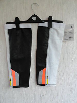 New With Tags Mavic S/vision Knee Warmers - Black & White Size S Charity Auction