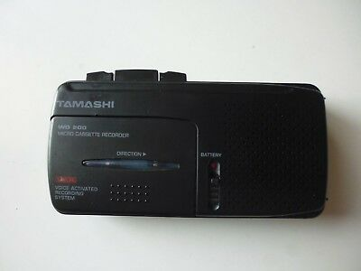 Vintage Mini Audio Tape Dictaphone Full Working Tamashi Wd 200