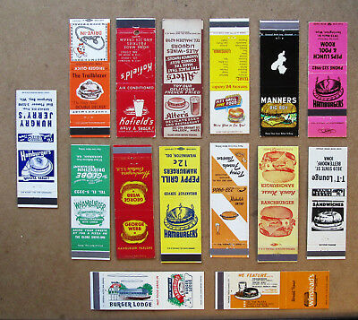 15 Diff Hamburger Unstruck Matchcovers