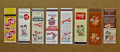 8 diff BIG BOY HAMBURGER, DIFFERENT FRANCHISES MATCHCOVERS