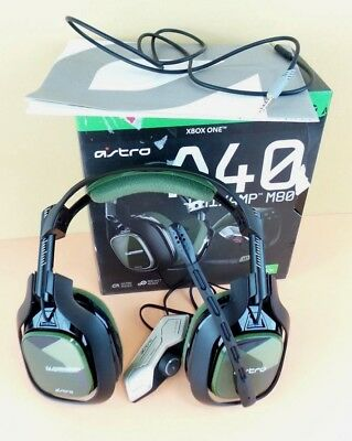 ASTRO Gaming A40 TR Headset + MixAmp M80 Black/Olive  Xbox One in Box #oli40