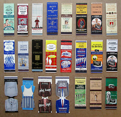 23 Diff Men's Clothes Unstruck Matchcovers