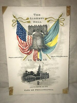 Original 1915 San Francisco Pan American Expo Souvenir Card Of The Liberty Bell