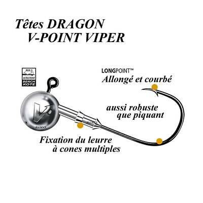têtes plombees dragon v-point viper