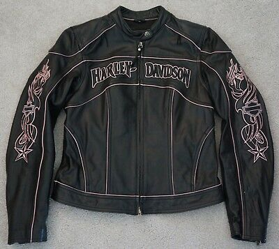 NEW 2009 Harley Davidson Women's Genuine Leather Racer Jacket Small Boots Vest